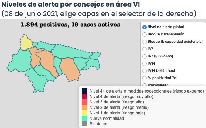 La situación epidemiológica empeora por segundo día en el Oriente de Asturias