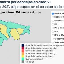 Segundo repunte de la semana con 7 nuevos positivos en el Oriente de Asturias