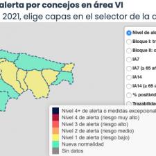 El Oriente de Asturias suma 5 nuevos contagios y Caravia alcanza la mitad de vacunados