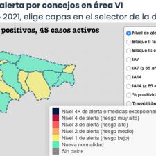 El coronavirus se relaja y da una tregua a los concejos del Oriente de Asturias