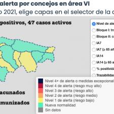 Dos concejos se reparten los 4 nuevos positivos del fin de semana en el Oriente de Asturias