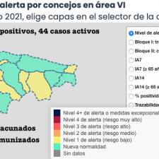 El martes deja 5 nuevos positivos en tres concejos del Oriente de Asturias