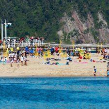 El voley playa escolar regresa a Ribadesella, a la punta del arenal de Santa Marina