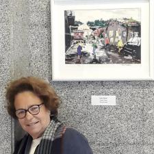 Infiesto inaugura la exposición dedicada a la artista Pura Fresno, la mujer del mes de junio en Piloña