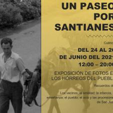 Santianes del Agua celebra San Juan con una exposición fotográfica entre pegollos, bajo los hórreos de este pueblo riosellano