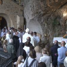 La Virgen Peregrina que recorre el Oriente de Asturias ya está en Covadonga