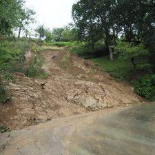 La escollera de protección en la carretera de Sardalla costará alrededor de 60.000 euros