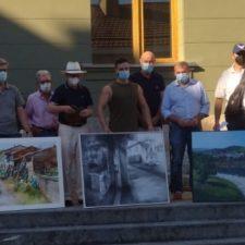 El gijonés Benigno Rodríguez gana el XVI Certamen de Pintura de Arriondas