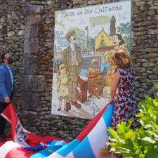 La nueva Plaza de Las Culturas de Colombres luce con todo su esplendor gracias a la obra de Alfonso Zapico
