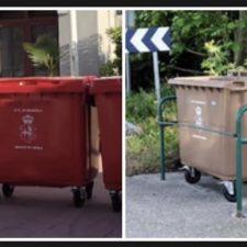 Polémica en Ribadesella por el color de los nuevos contenedores de basura distribuidos por el concejo