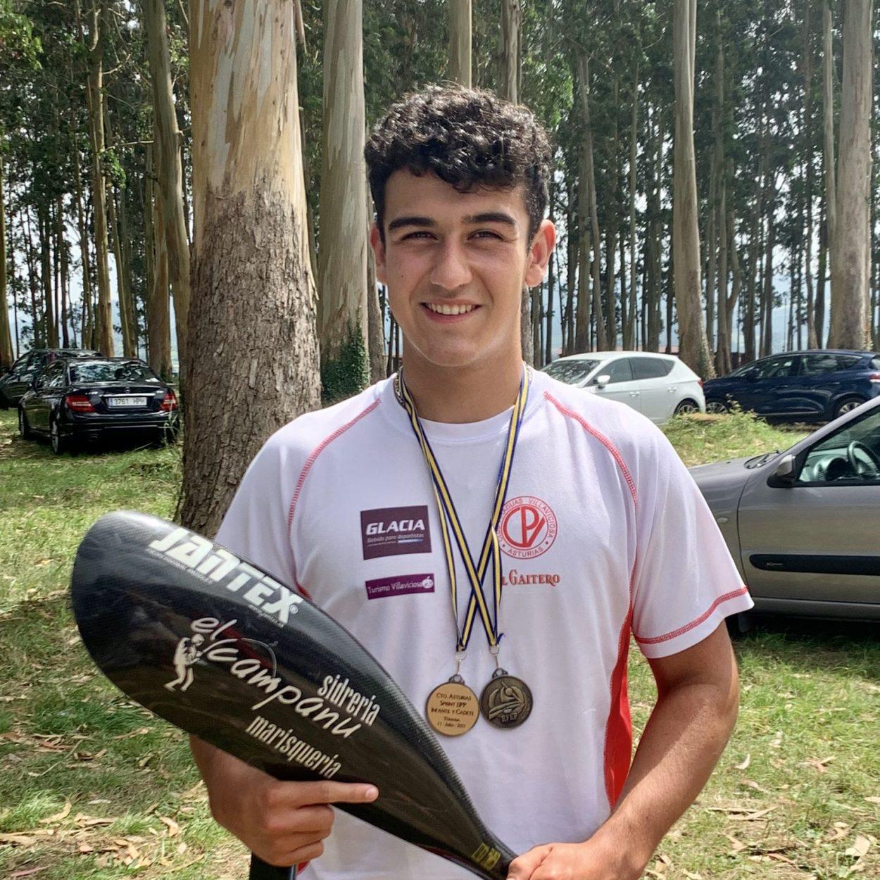 Doble medalla de oro para el riosellano Javi García en el regional de Jóvenes Promesas