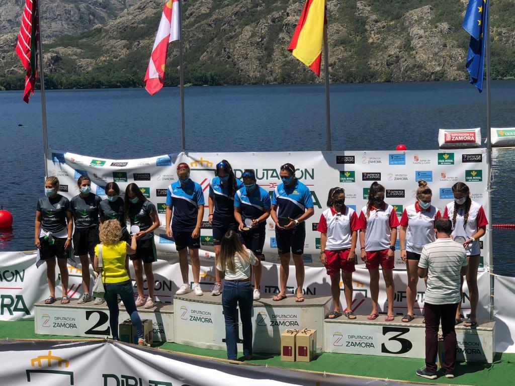 Histórico doblete asturiano en el Gran Premio K4 de Castilla y León disputado en el lago de Sanabria