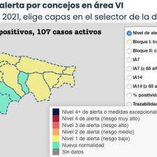 El Oriente de Asturias suma otros 6 contagios que elevan a 107 los casos activos