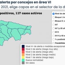 Llanes suma 5 de los 15 nuevos contagios registrados este martes en el Oriente de Asturias