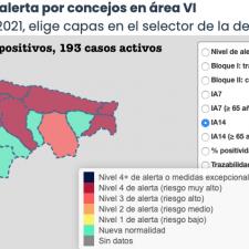 El Oriente de Asturias suma 45 nuevos contagios tras el último fin de semana