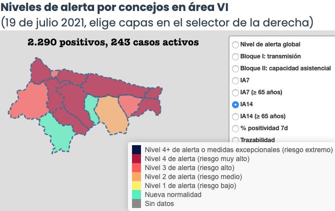 Ribadesella supera los mil casos por cada cien mil habitantes tras los últimos contagios