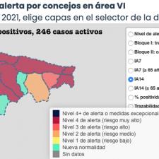 Llanes y Ribadesella vuelven a marcar otra jornada de subidas en la pandemia comarcal