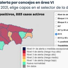 El Oriente de Asturias suma otros 15 positivos repartidos en siete municipios, pero sigue mejorando