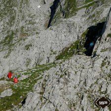 Rescatado un montañero que sufrió una caída en el Pico Cotalba, en Cangas de Onís
