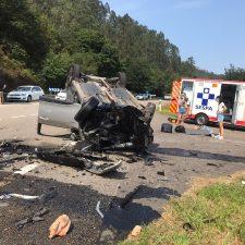 Un choque frontal entre dos vehículos deja 8 heridos en la N-634 a su paso por Ribadesella