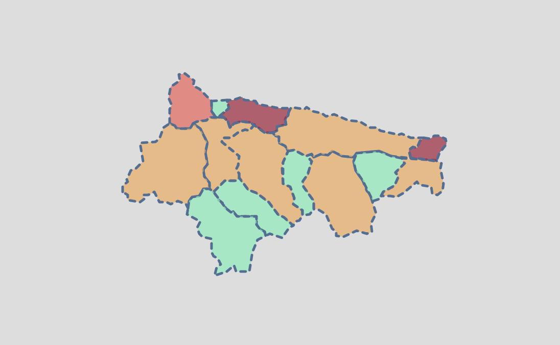 El coronavirus solo deja dos contagios en el Oriente de Asturias durante el lunes y el martes
