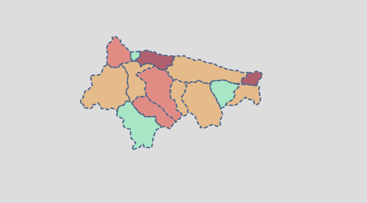 La última actualización epidemiológica deja 10 positivos en siete concejos del Oriente de Asturias
