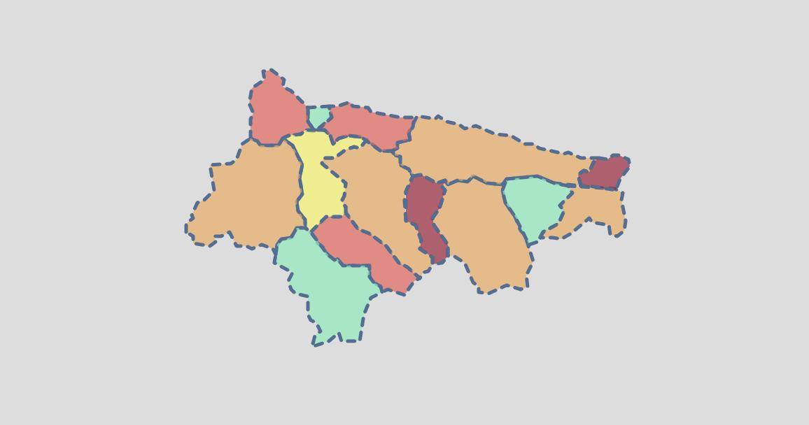 El fin de semana dejó 11 nuevos positivos en cinco municipios del Oriente de Asturias