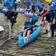 La consejera Melania Alvarez se apunta al Descenso Adaptado del Sella
