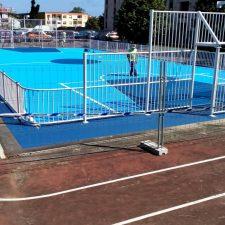 Esta semana finalizarán los trabajos de construcción de la nueva pista deportiva de Celorio