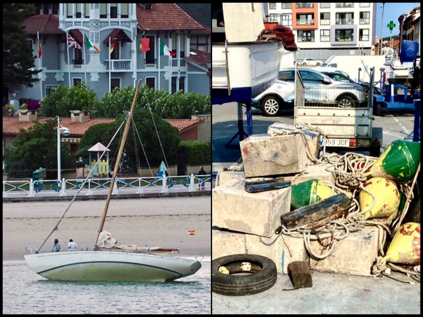 El Club Náutico de Ribadesella reclama la señalización y el dragado del puerto para evitar tanto barco varado
