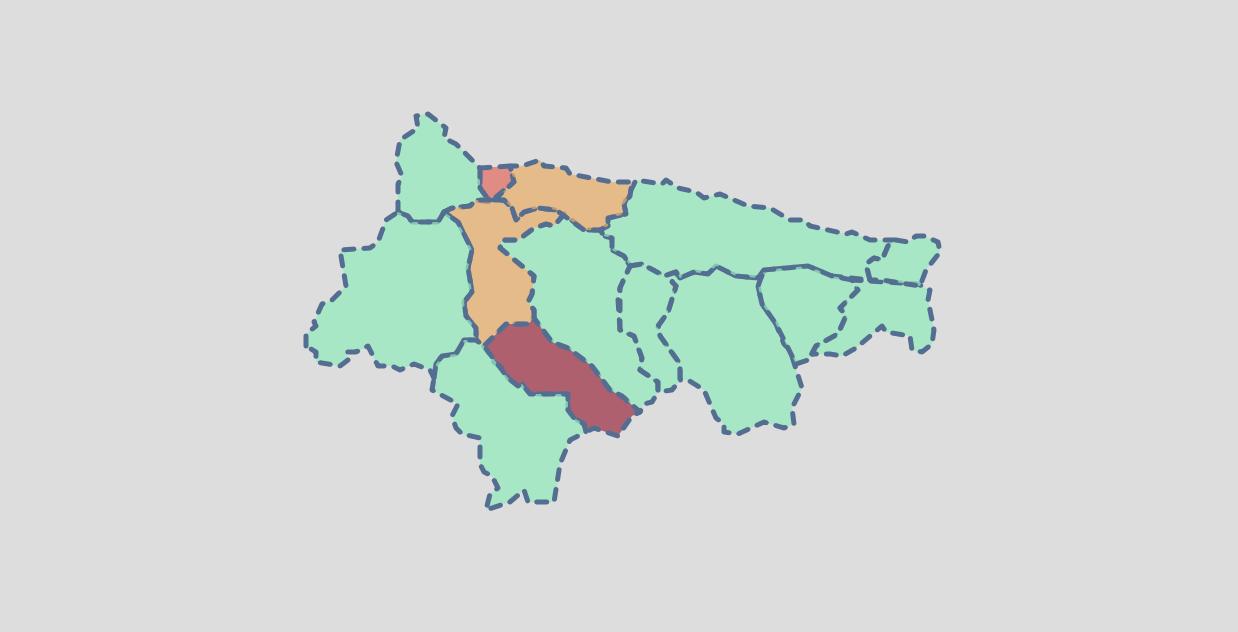 El fin de semana deja 8 nuevos positivos en cinco concejos del Oriente de Asturias