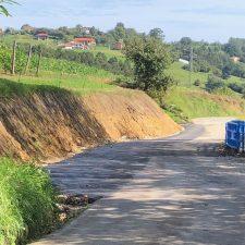 El Ayuntamiento de Ribadesella da por concluida la reparación del argayu de Nocéu tras 14.600 euros de inversión