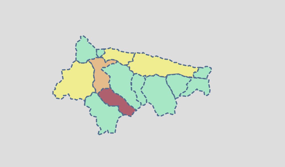 Un solo contagio en el Oriente de Asturias durante los tres primeros días de octubre