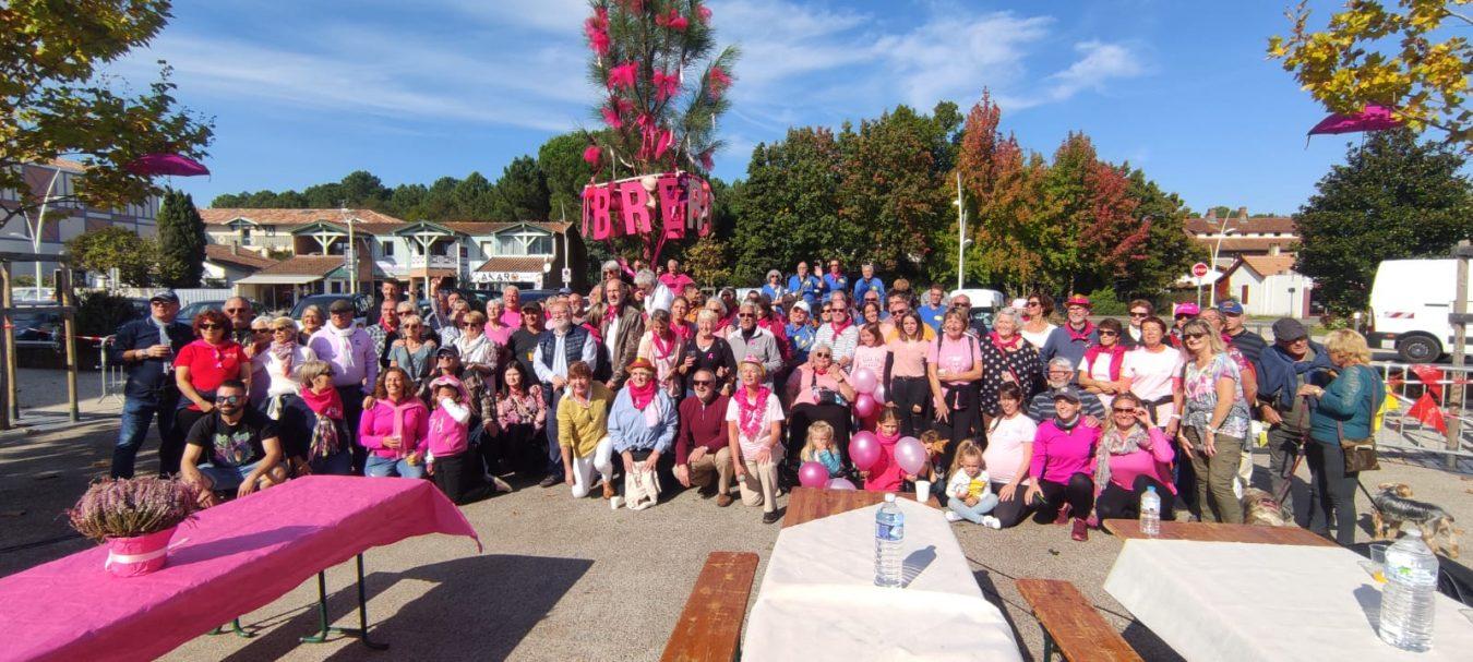 Ribadesella y Sanguinet marchan juntas contra el cáncer de mama