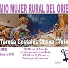 Teresa Costales, la única redera de la comarca, Muyer Rural 2021 en el Oriente de Asturias
